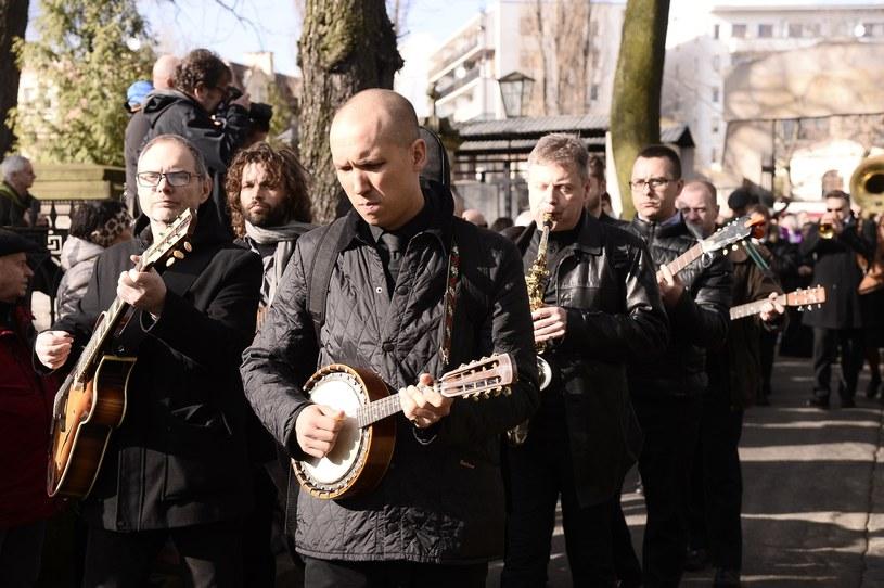 Jan Młynarski na pogrzebie Wojciecha Młynarskiego /Tricolors /East News