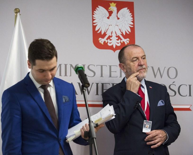Jan Mosiński, Patryk Jaki /Andrzej Hulimka  /Reporter