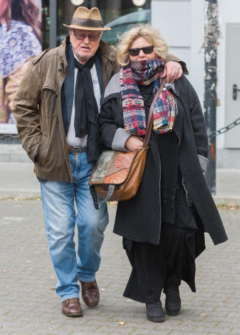 Jan Nowicki i Anna Kondratowicz (żona) /Artur Zawadzki /Reporter