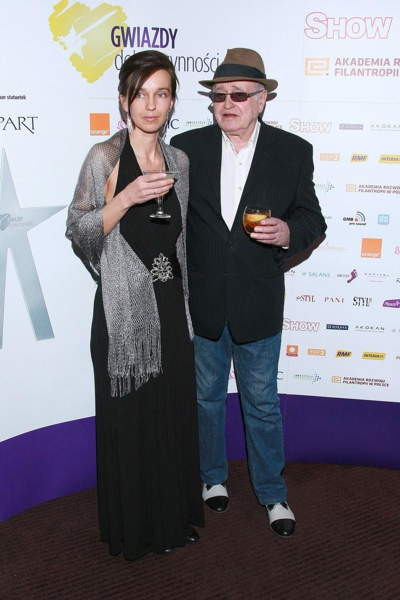 Jan Nowicki z córką Sajaną /Piklikieiwcz /East News