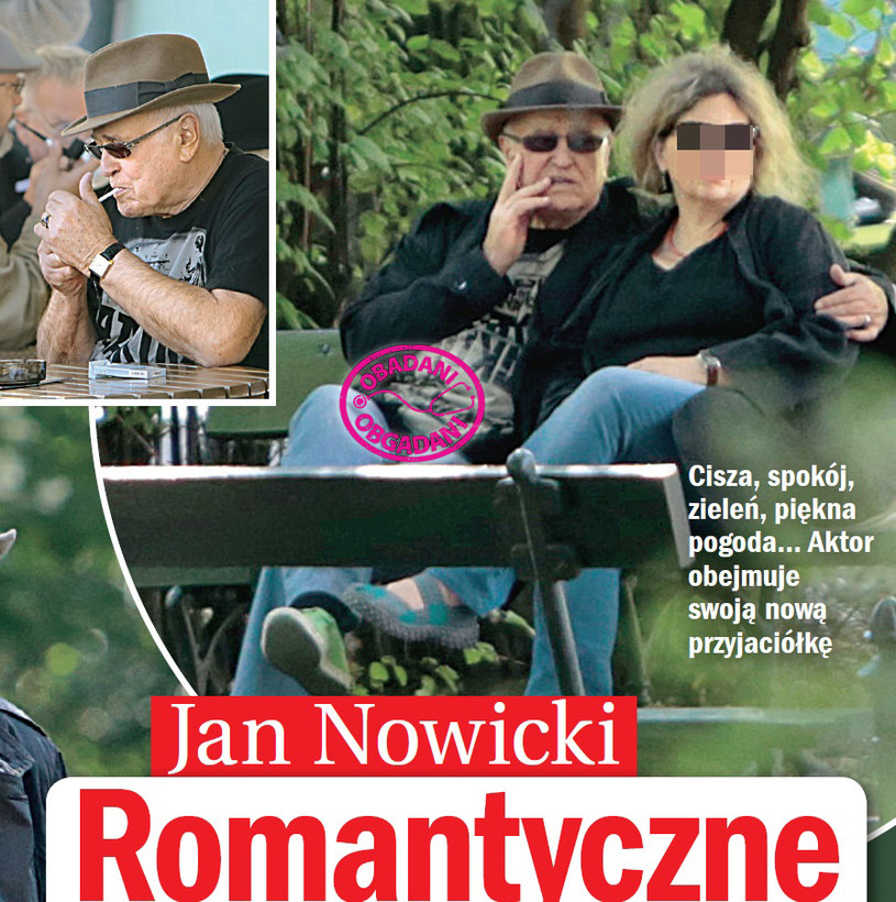 Jan Nowicki z przyjaciółką /Życie na gorąco