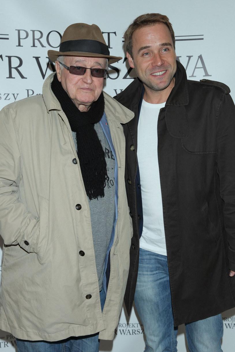Jan Nowicki z synem Łukaszem /VIPHOTO /East News