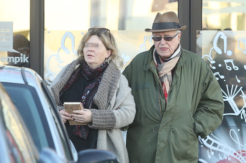 Jan Nowicki z żoną /WOLF /Newspix