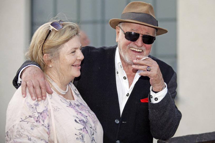 Jan Nowicki z żoną /Łukasz Telus /AKPA
