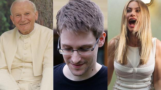 """Jan Paweł II (""""Apartament""""), Edward Snowden (""""Citizenfour"""") i Sofía Vergara (""""Gorący pościg"""") /materiały prasowe"""