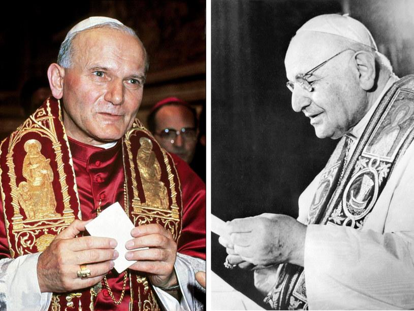 Jan Paweł II i Jan XXIII /AFP