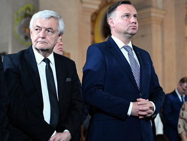 Jan Piekło (po lewej) i prezydent Andrzej Duda (po prawej) /Jacek Turczyk /PAP