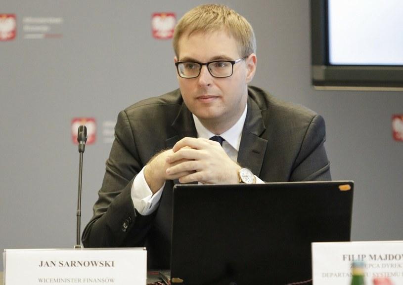 Jan Sarnowski, wiceminister finansów /Grzegorz Banaszak /Reporter