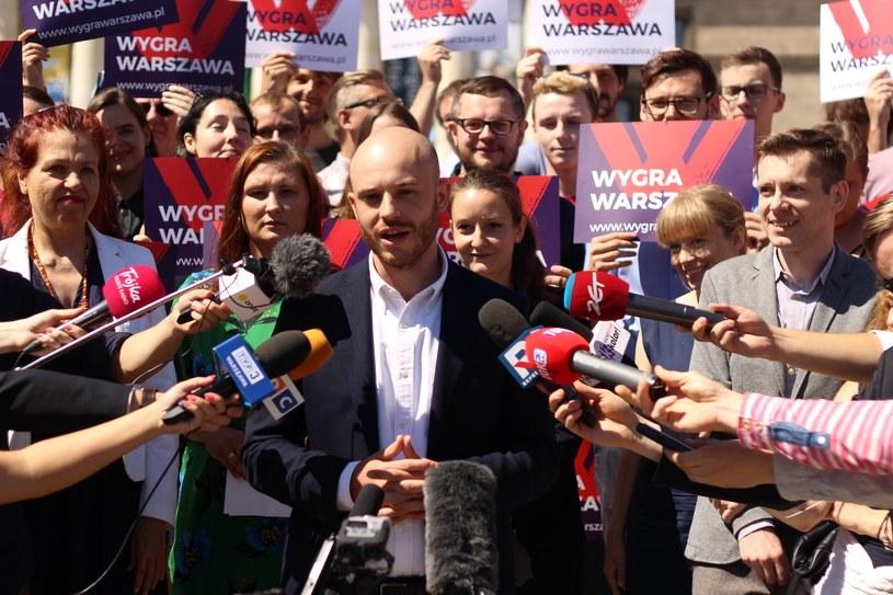 Jan Śpiewak i komitet wyborczy Wygra Warszawa /Wygra Warszawa /materiały prasowe