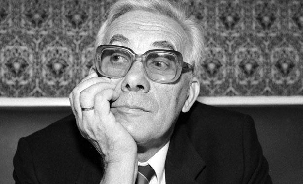 Jan Suzin w 1992 roku, fot. Jacek Domiński /Reporter
