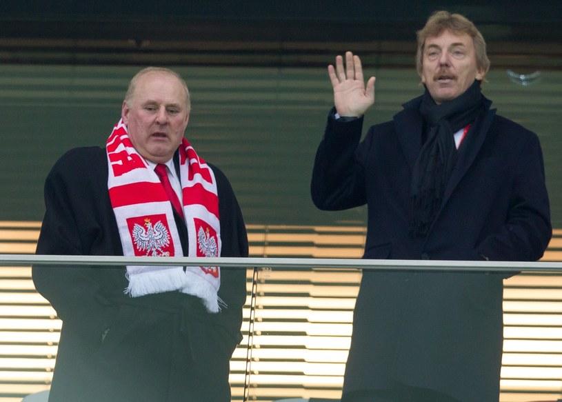 Jan Tomaszewski (z lewej) i Zbigniew Boniek /Andrzej Iwańczuk /Reporter