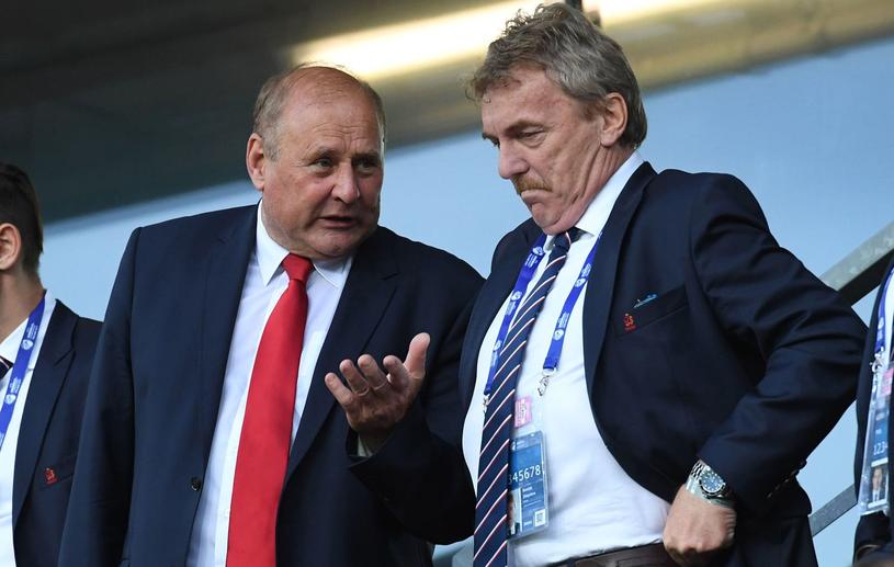 Jan Tomaszewski (z lewej) i Zbigniew Boniek /AFP