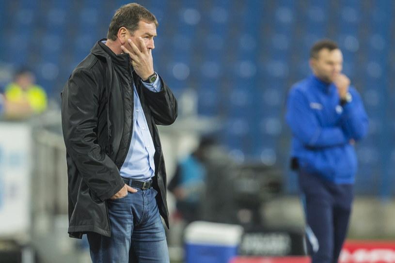Jan Urban podczas meczu Lecha z Ruchem /Bartosz Jankowski /PAP