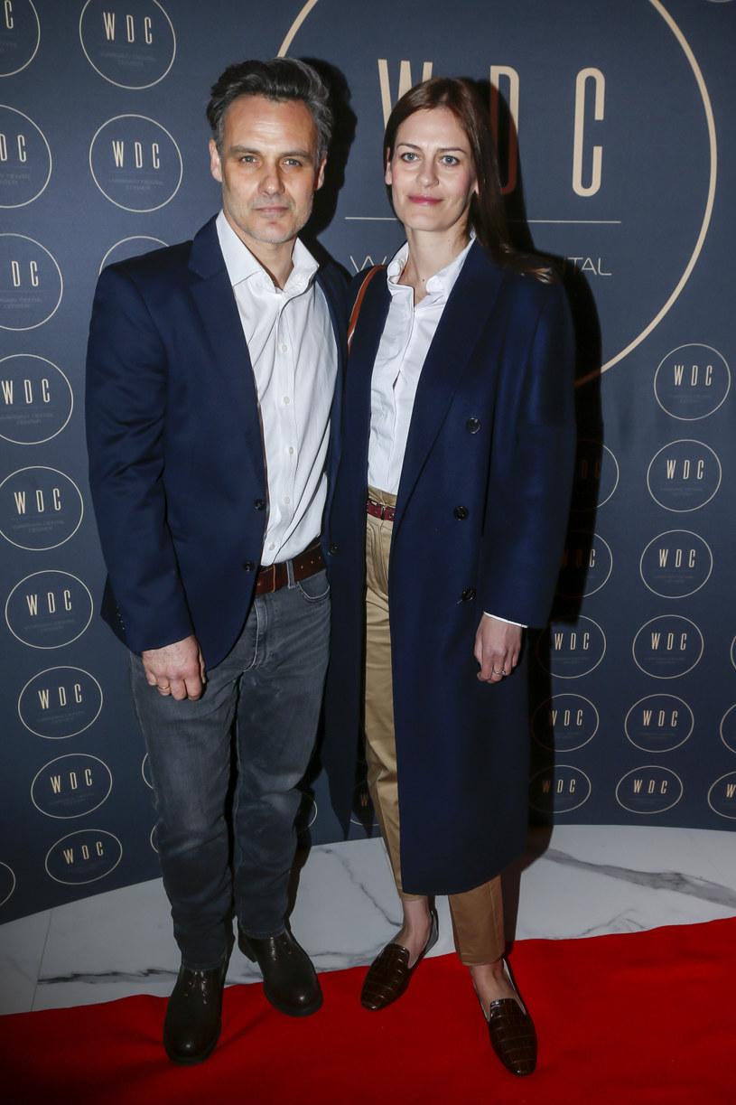 Jan Wieczorkowski z żoną /Baranowski /AKPA