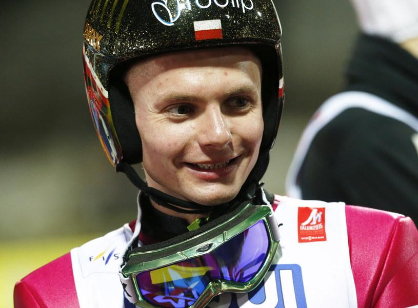 Jan Ziobro po konkursie na skoczni normalnej w Falun /Grzegorz Momot /PAP