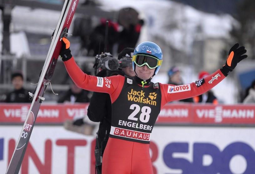 Jan Ziobro po raz pierwszy w karierze wygrał konkurs Pucharu Świata /PAP/EPA