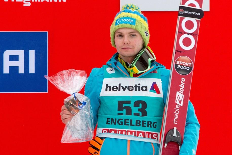 Jan Ziobro w Engelbergu, 22 grudnia 2013 /EXPA/Eibner-Pressefoto/Socher/APA /PAP