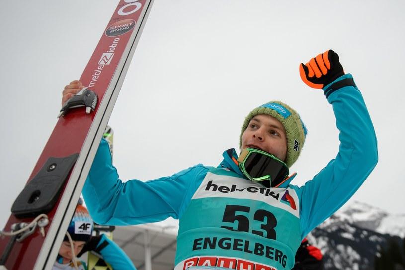 Jan Ziobro w Engelbergu miał powody do zadowolenia /AFP
