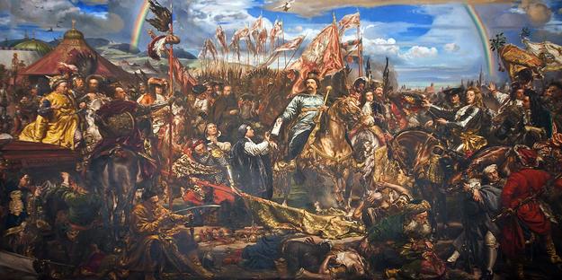 Jana Matejko: Jan III Sobieski wysyła wiadomość o zwycięstwie papieżowi Innocentemu XI /Domena publiczna /Wikimedia