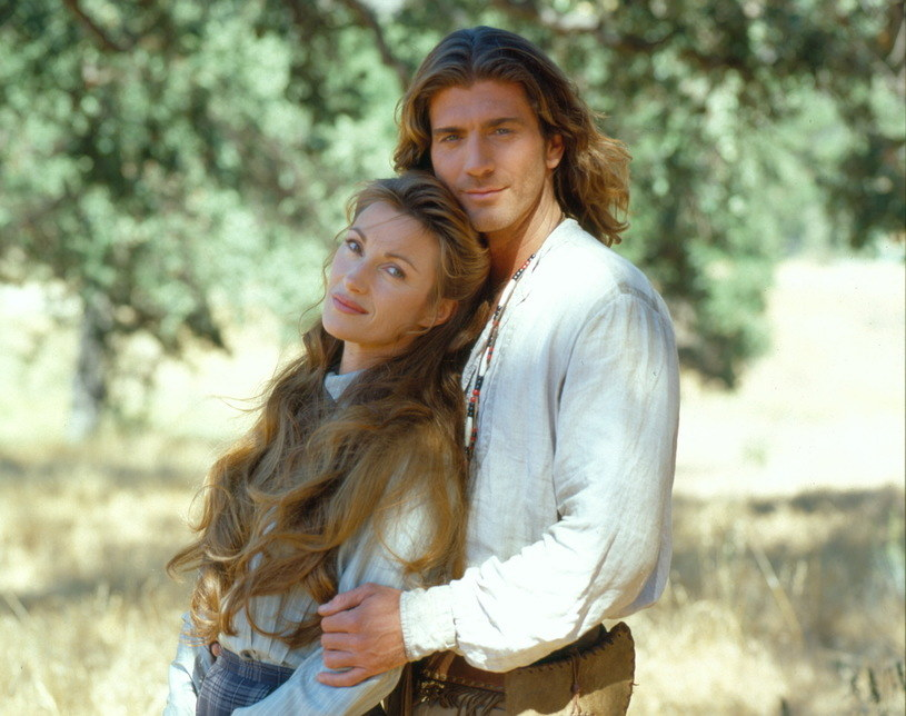 "Jane Seymour i Joe Lando na planie serialu ""Doktor Quinn"" /Charles Bush/CBS Photo Archive /Getty Images /Getty Images"
