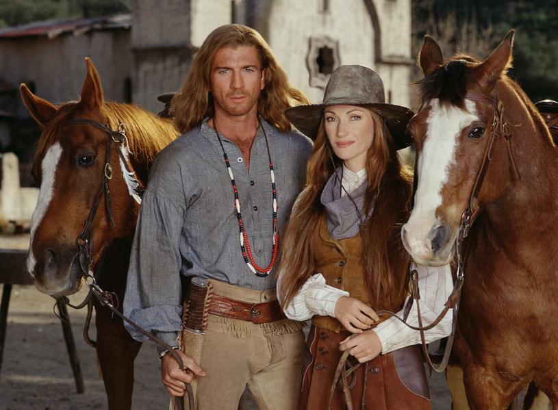 Jane Seymour i Joe Lando na planie serialu /Spike Nannarello/CBS Photo Archive /Getty Images