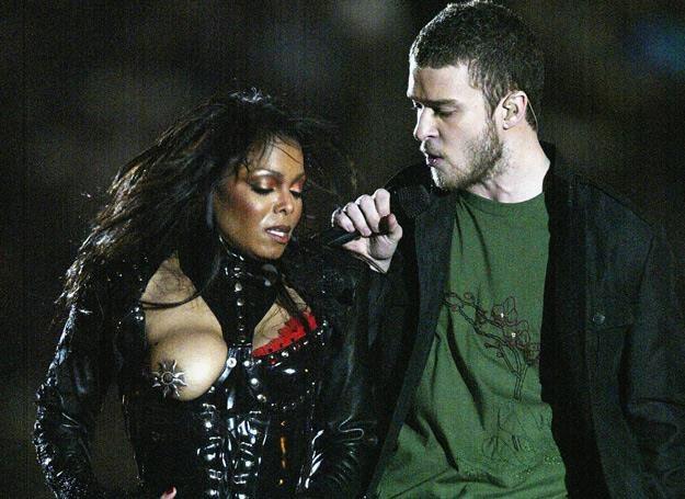 "Janet Jackson i jej ""awaria garderoby"" (obok Justin Timberlake) - fot. Donald Miralle /Getty Images"