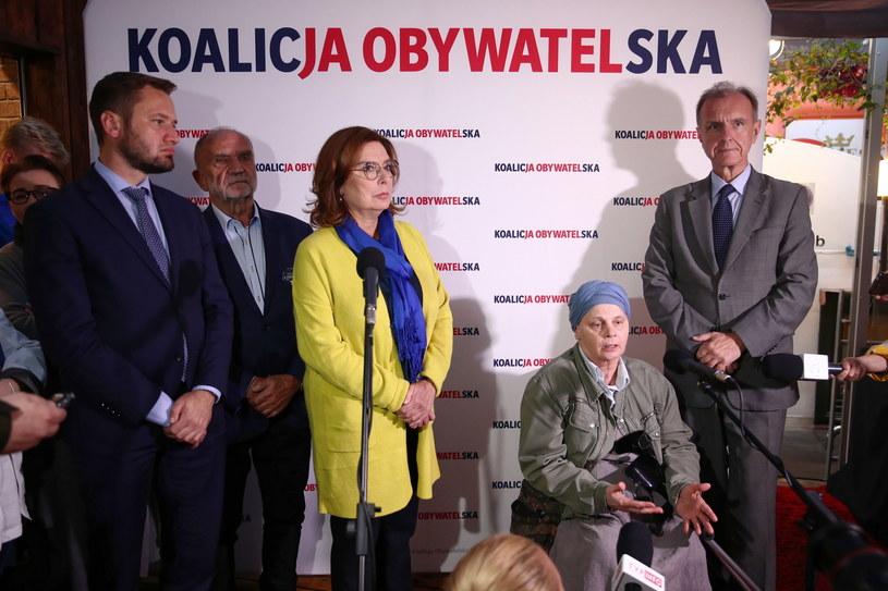 Janina Ochojska i kandydatka Koalicji Obywatelskiej na premiera Małgorzata Kidawa-Błońska w Krakowie //Łukasz Gągulski /PAP