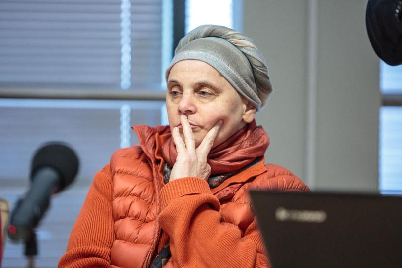Janina Ochojska namawia kobiety do badań. Przekonuje, że mammografia nie boli /Agencja FORUM