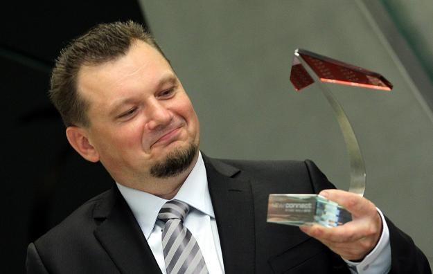 January Ciszewski, prezes spółki JR Invest, podczas debiutu firmy na NewConnect /PAP
