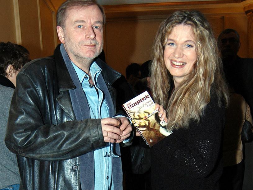 Janusz Anderman i Joanna Trzepiecińska, 2004 rok /Zawada /AKPA