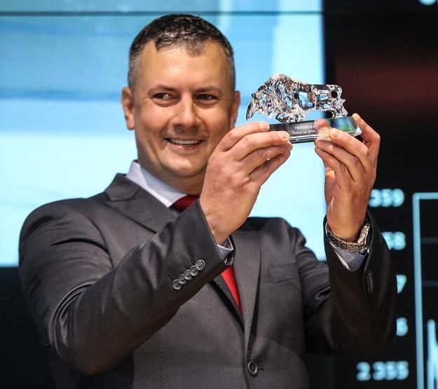 Janusz Daniel, prezes Feerum, w czasie debiutu na rynku głownym GPW /PAP