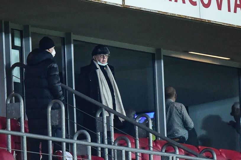 Janusz Filipiak podczas derbów Krakowa /Fot. Borys Gogulski /Newspix