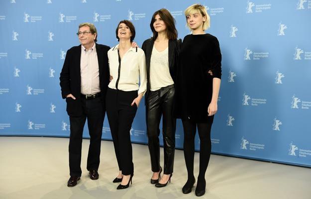Janusz Gajos, Maja Ostaszewska, Małgorzata Szumowska i Justyna Suwała na Berlinale /AFP
