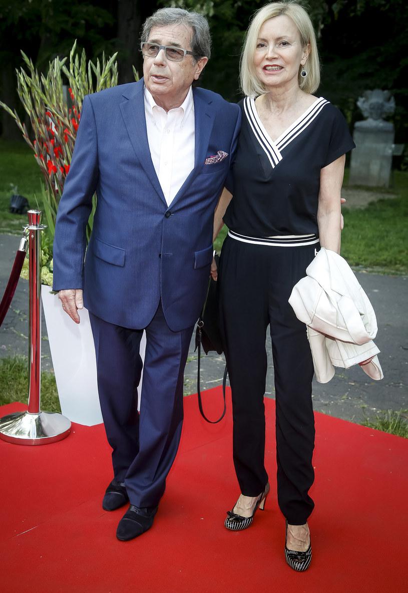 Janusz Gajos z żoną Elżbietą /Baranowski /AKPA