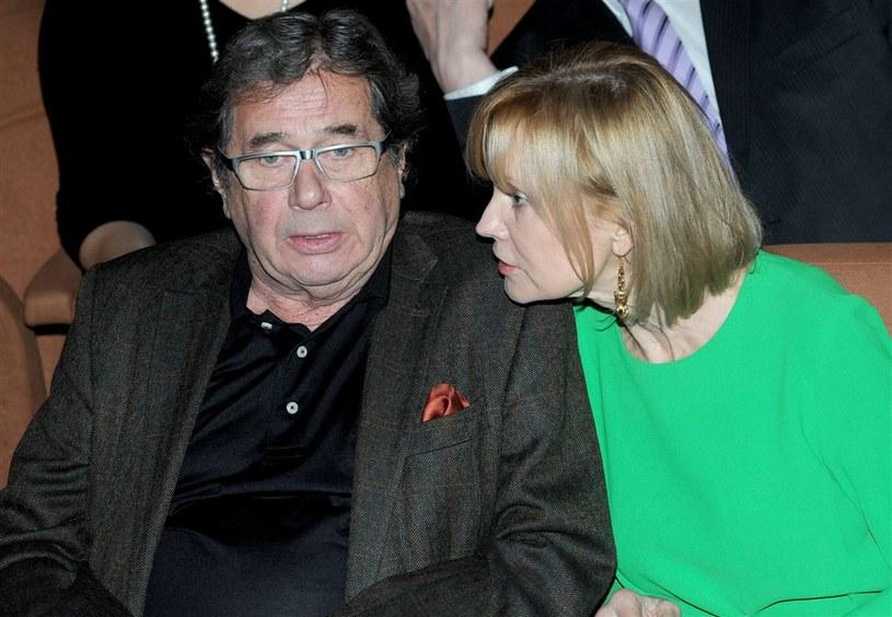 Janusz Gajos z żoną /Agencja W. Impact