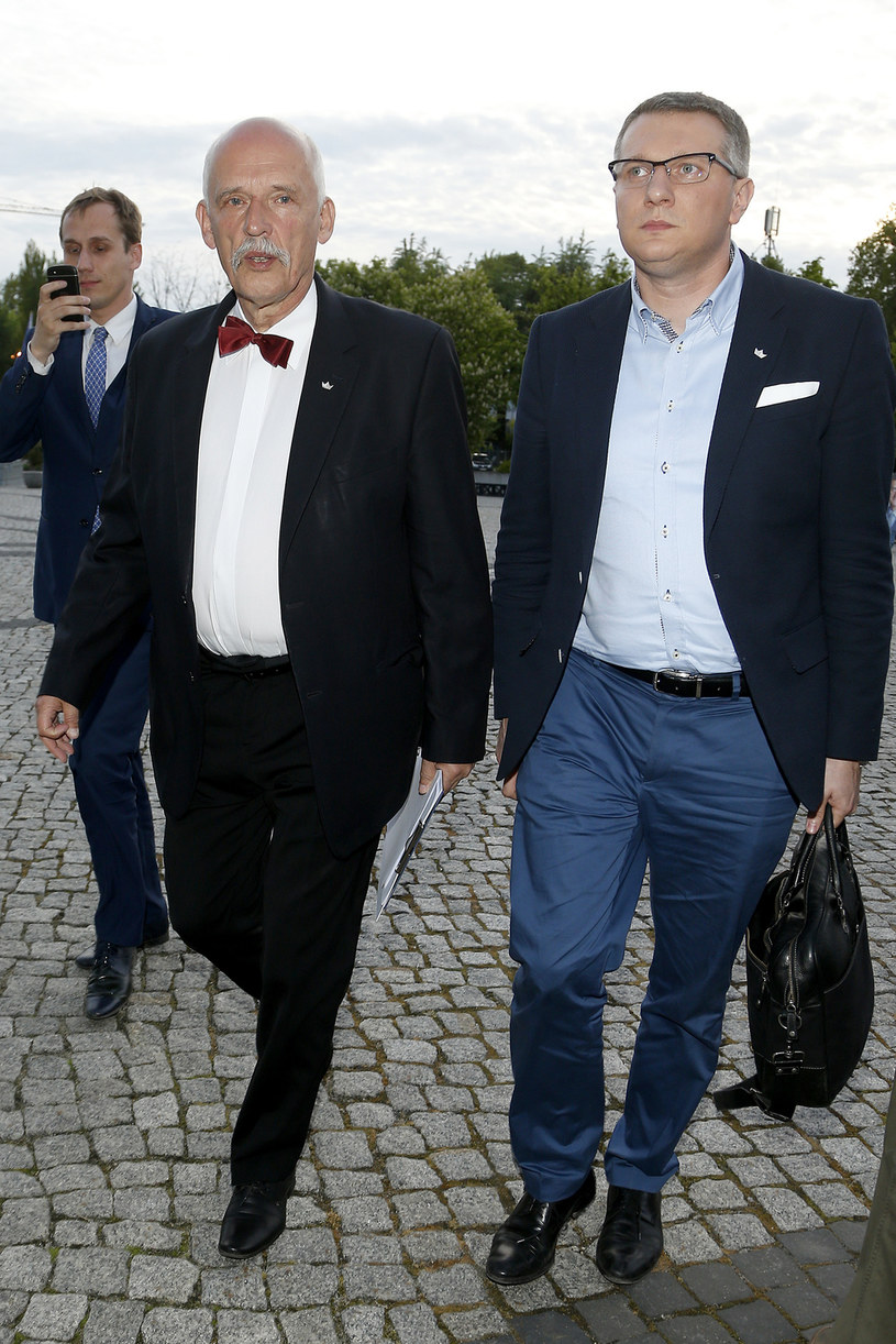 Janusz Korwin-Mikke i Przemysław Wipler /Podlewski /AKPA