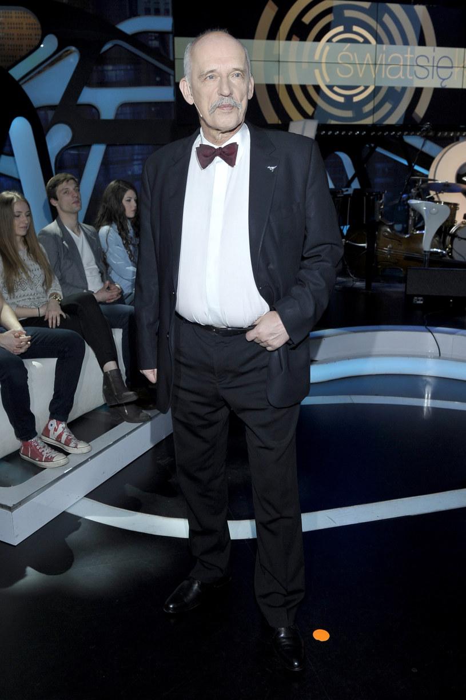 Janusz Korwin-Mikke miał wypadek! / Mieszko Piętka /AKPA
