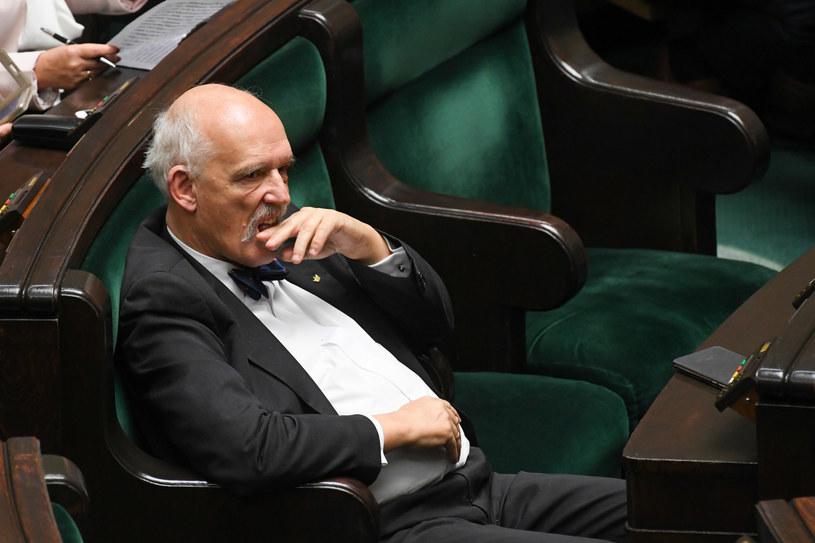 Janusz Korwin-Mikke wrócił do Sejmu po 26 latach /Jacek Domiński /Reporter