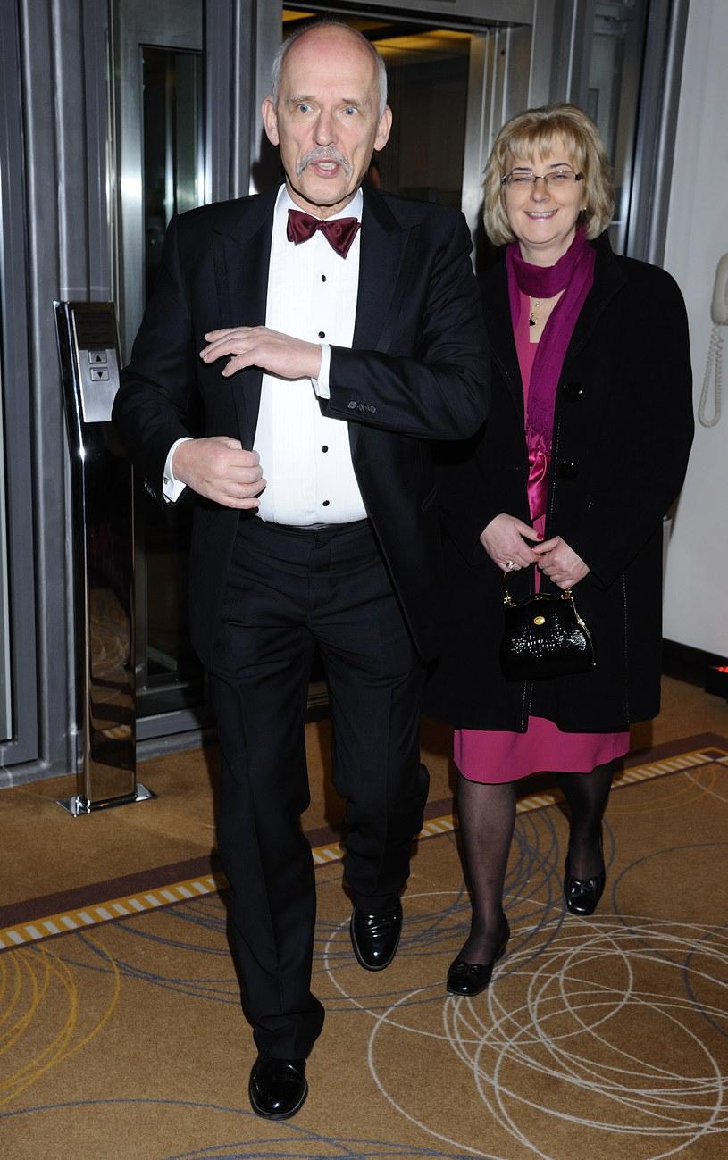 Janusz Korwin-Mikke z żoną Małgorzatą /Jarosław Antoniak /MWMedia