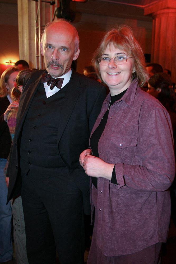 Janusz Korwin-Mikke z żoną Małgosią /Palicki /AKPA