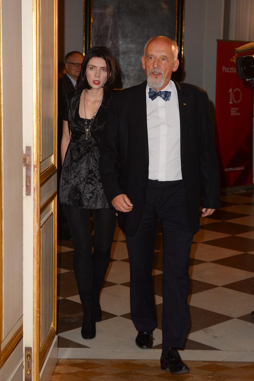 Janusz Korwin-Mikke z żoną /Jaroslaw Antoniak /MWMedia