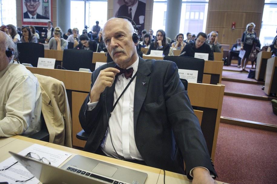Janusz Korwin-Mikke /Wiktor Dabkowski    /PAP