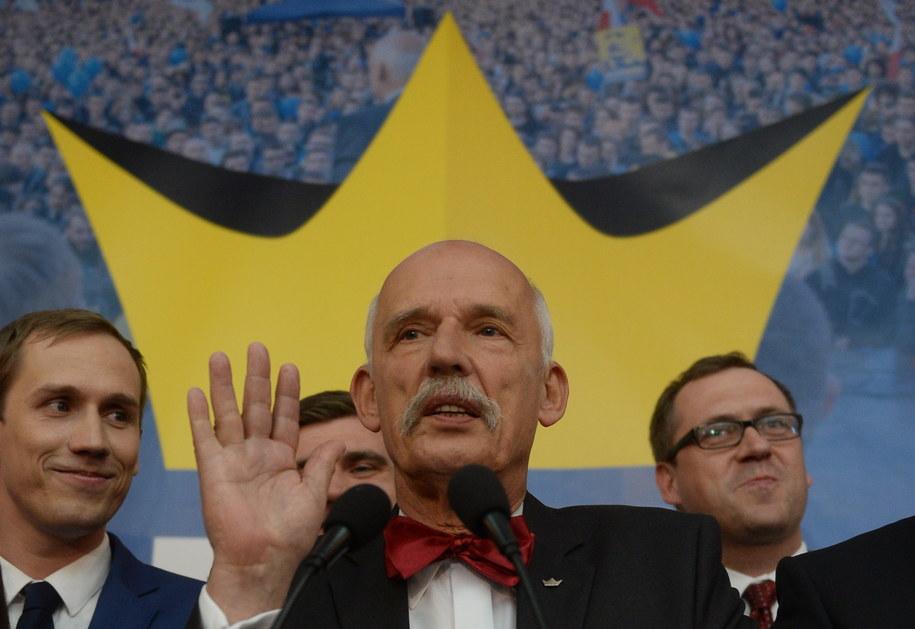 Janusz Korwin-Mikke /Bartłomiej Zborowski /PAP