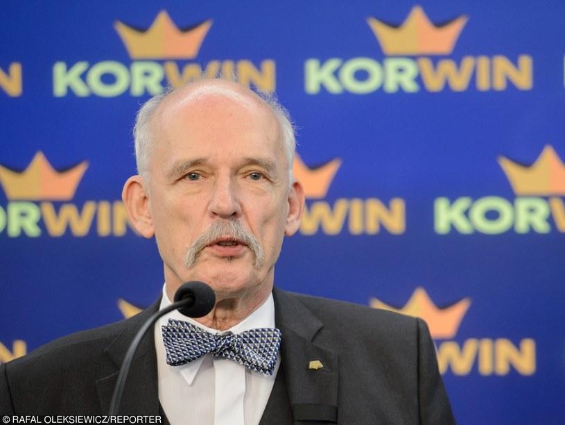 Janusz Korwin-Mikke /Rafal Oleksiewicz /Reporter