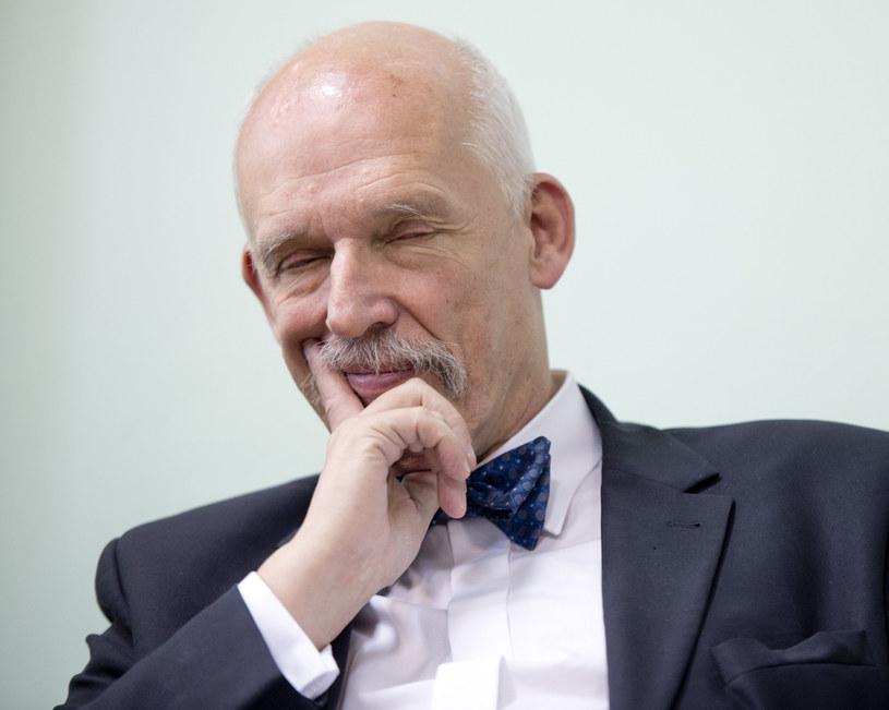 Janusz Korwin-Mikke /fot. Piotr Tracz/REPORTER /Reporter