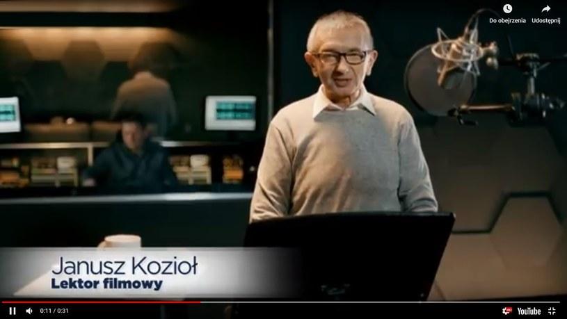 Janusz Kozioł w reklamie leku (screen:youtube.com) /materiał zewnętrzny