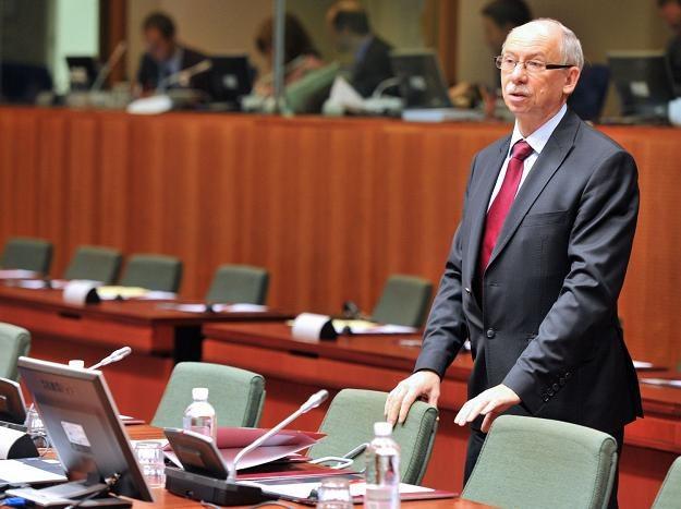 Janusz Lewandowski, unijny komisarz ds. budżetu /AFP