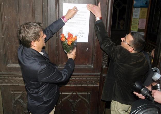 Janusz Palikot na Franciszkańskiej 3/fot. Artur Barbarowski /East News