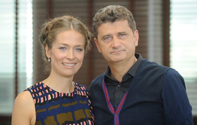 Janusz Palikot z żoną Moniką, fot.Bartosz Krupa  /East News