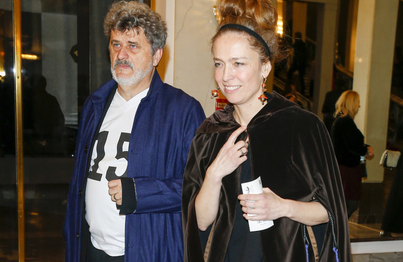 """Janusz Palikot z żoną na premierze spektaklu """"Halka"""" /Baranowski /AKPA"""